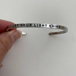 """Let Your Light Shine"" Cuff Bracelet"